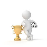 Winner of the cup Stock Photo
