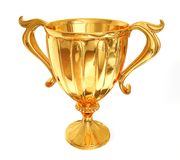 Winner cup. Golden  winner cup isolated on a white Stock Photos
