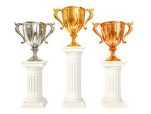 Winner cup. Gold einner cup isolated on a white Royalty Free Stock Images