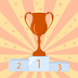 Winner cup, champion prize Royalty Free Stock Image