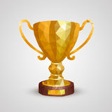 Winner cup 3d polygon Royalty Free Stock Photography