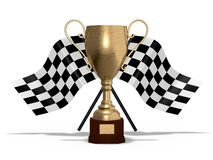 Winner cup with flags Royalty Free Stock Image