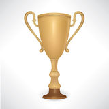 Winner cup. With laurel wreath Stock Image