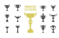 Winner cup set icon Royalty Free Stock Photo