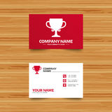 Winner cup sign icon. Awarding of winners. Stock Images