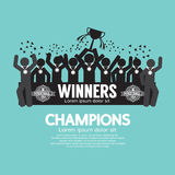 The Winner Cup Soccer or Football Champions Royalty Free Stock Photo
