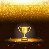 Winner Cup With Spark Rain. Royalty Free Stock Image