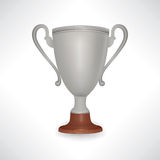 Winner cup. Trophies with laurel wreath and copy space. Golden a Royalty Free Stock Photography