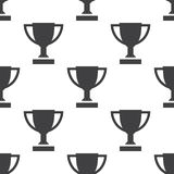 Winner cup, vector seamless pattern. Editable can be used for web page backgrounds, pattern fills Royalty Free Stock Image