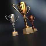 Winner cups Stock Image