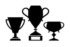 Winner cups icon. S set on white background Stock Photo