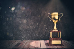 Winner& d'or x27 ; concept de victoire de tasse de s Photo libre de droits