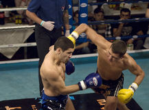 Winner D.Larchenko(black) and Elkun Orudzhev(blue) Stock Photography