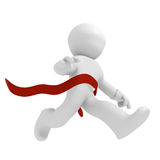 Winner. 3d runner with a red ribbon, winning concept Royalty Free Stock Photo