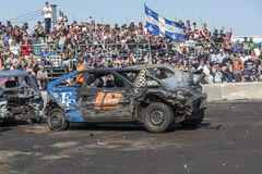 Winner after demolition derby Royalty Free Stock Photos
