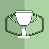 Winner design. Success icon. Flat illustration,  graphic Royalty Free Stock Images