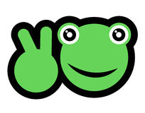 Winner frog Royalty Free Stock Photography