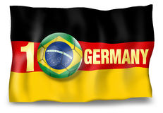 Winner Germany Flag Ball Royalty Free Stock Photos