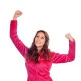 Winner girl Stock Photography