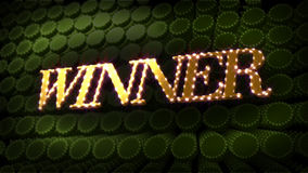 Winner Glitz Sparkle Text stock video