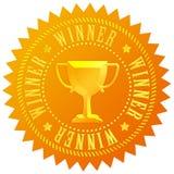 Winner gold medal royalty free illustration