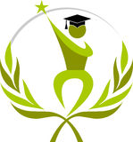 Winner graduation. Illustration art of a winner graduation with isolated background Royalty Free Stock Photos