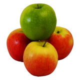 Winner green Apple on group of red apple Stock Images