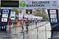 Winner of the half marathon for men Stock Photography