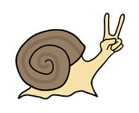 Winner happy snail Royalty Free Stock Photos