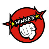 Winner icon. Design of winner hand icon Stock Photos