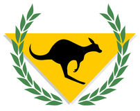 Winner kangaroo Royalty Free Stock Photo