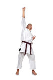 Winner Karate boy Royalty Free Stock Photography
