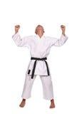 Winner Karate boy Stock Image