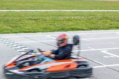 The winner of the karting race Royalty Free Stock Photos