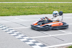 The winner of the karting race Stock Images
