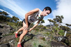 Winner Killian Burgada in Mt Kinabalu CLimbathon Royalty Free Stock Images