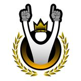 Winner king Royalty Free Stock Photography