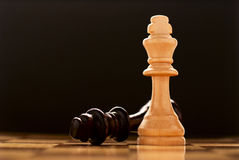 The winner - a king chess piece Stock Image