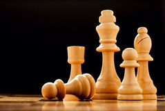 The winner - a king chess piece Royalty Free Stock Photo