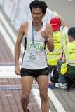 Winner of KL Marathon. Kuala Lumpur, June 26 : Ong Chin from Malaysia, win the 3rd place at half marathon veterans category of Standard Chartered KL Marathon Stock Photos
