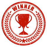 Winner laurel stamp Stock Images