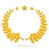 Winner Laurel Wreath and Stars Royalty Free Stock Photos