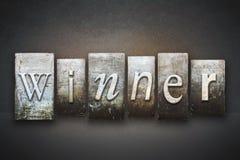 Winner Letterpress. The word WINNER written in vintage letterpress type Royalty Free Stock Photo