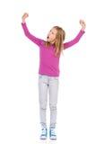 Winner little girl Stock Image
