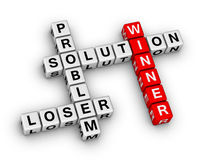 Winner and loser. Crossword puzzle Royalty Free Stock Images