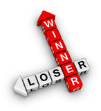 Winner and loser. Crossword puzzle Royalty Free Stock Image