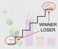 Winner-loser Stock Photography