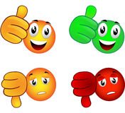 Winner or loser. Smiley emoticon which symbolize winner or loser , true or false royalty free illustration