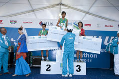 Winner of Malaysia Marathon Stock Images