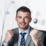 Winner manager Stock Image